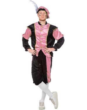 Roze Piet kostuum, hulp van Sinterklaas voor mannen
