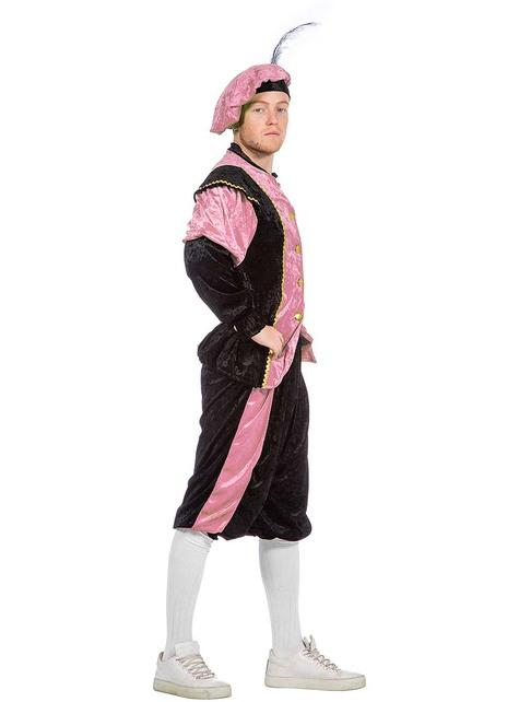 Disfraz de Pedro ayudante de San Nicolás rosa para hombre