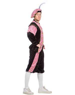 Różowy Strój Piotra - pomocnika Mikołaja dla mężczyzn
