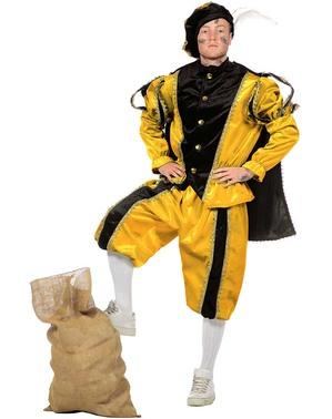 Geel Piet kostuum, hulp van Sinterklaas voor vrouw