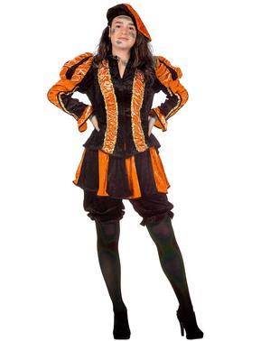 Dámský kostým Peter, pomocník Santa Clause oranžový