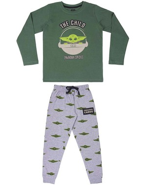 Vauva Yoda Pyjamat (lapsi) Pojille - Mandalorian