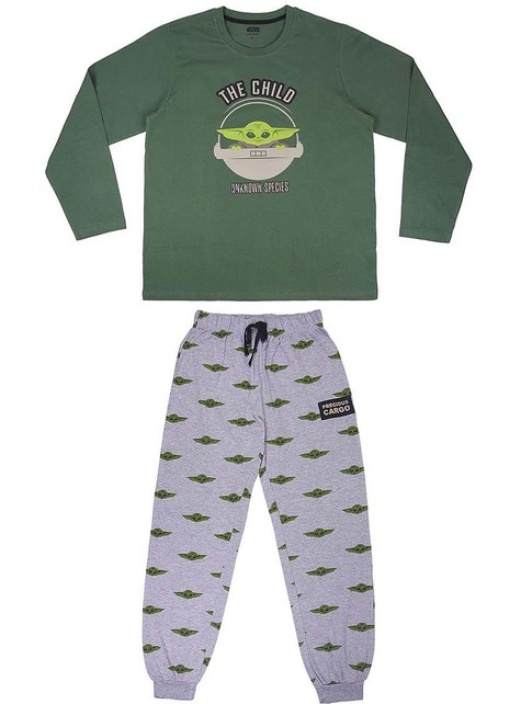 Pijama Baby Yoda (The Child) para adulto - Mandalorian