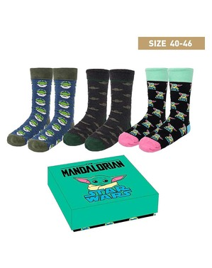 Tři páry ponožek Baby Yoda (The Child) pro dospělé - Mandalorian