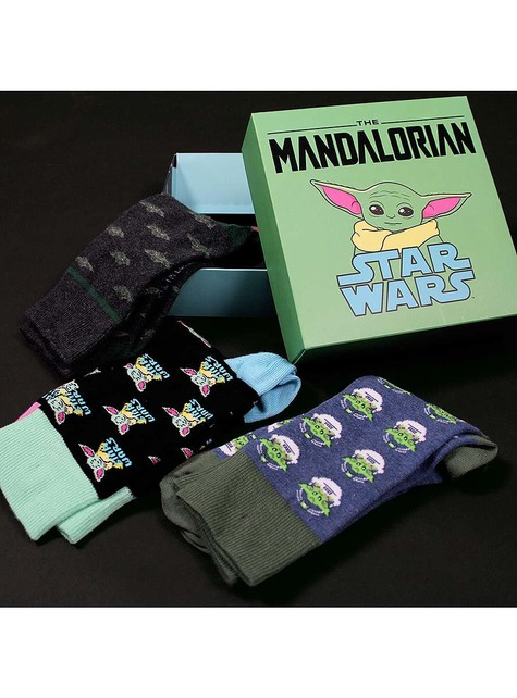 3 Pack of Baby Yoda (The Child) Socks For Adults - Mandalorian