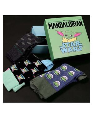 Skarpetki Baby Yoda (Dziecko) dla dorosłych (3-pak) - The Mandalorian