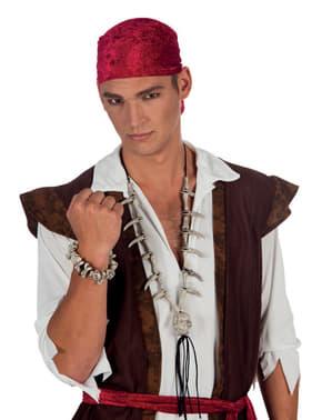Bracelet tête de mort pirate adulte