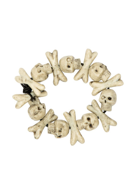 Bransoletka z pirackimi czaszkami dla dorosłych