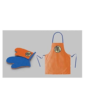 Matching Dragon Ball Turtle Symbol Apron And Oven Mitt