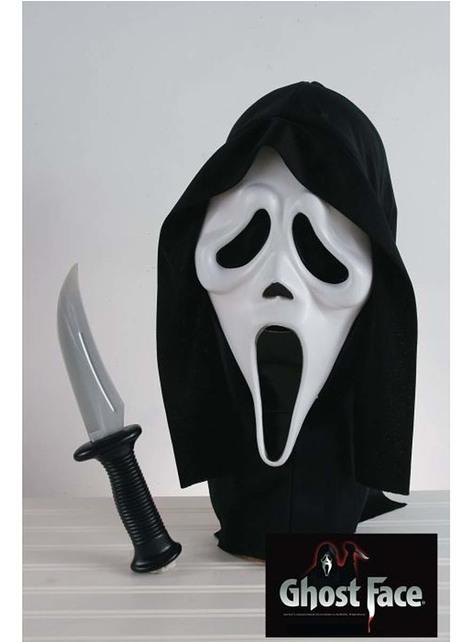 Kit máscara e faca de Gritos adulto