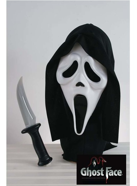 """Комплект маска и нож за възрастни от """"Писък"""""""