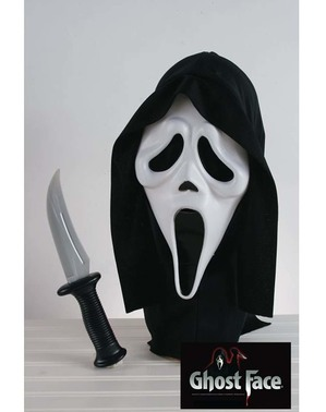 Kit máscara y cuchillo de Scream adulto