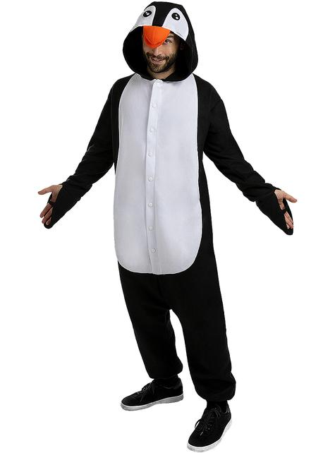 Onesie penguin kostuum voor volwassenen