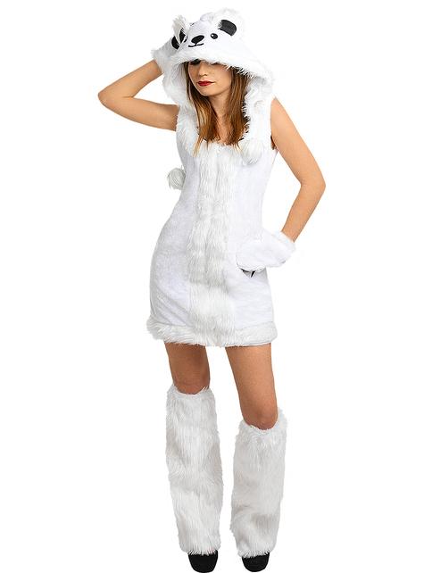 Disfraz de oso polar para mujer talla grande