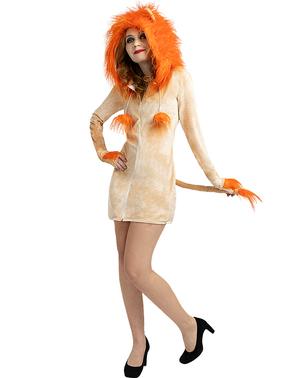 Løvinde Kostume til Kvinder i Plusstørrelse