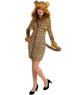 Leopardkostyme til Damer i Plusstørrelse