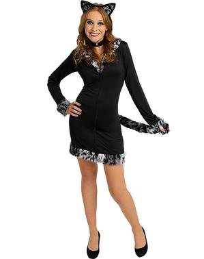 Kat Kostume til Kvinder i Plusstørrelse