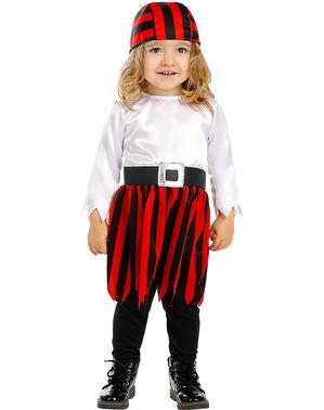 Pirat Kostume til Lille Pige - Sørøver Samling