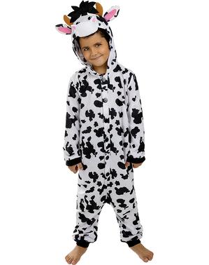 Fato de vaca onesie para menino