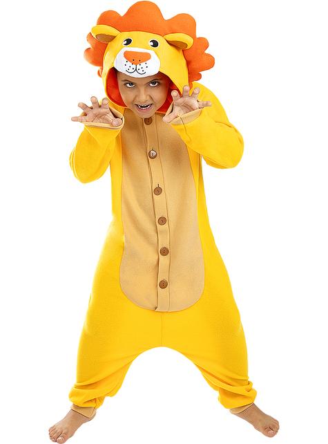 Disfraz de león onesie para niños