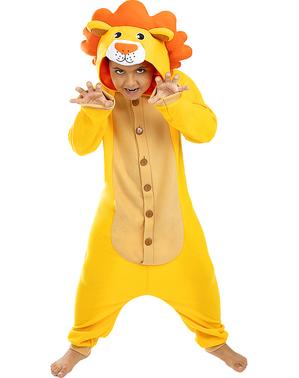 Kigurumi Lejon Maskeraddräkt för barn