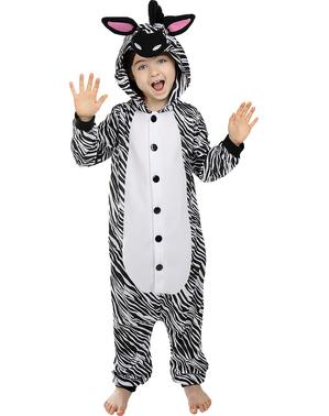 Onesie zebra kostuum voor kinderen