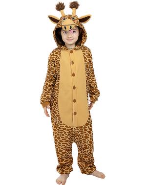 Onesie giraffe kostuum voor kinderen