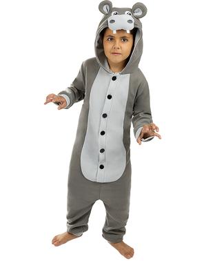 Kigurumi Flodhäst Maskeraddräkt för barn