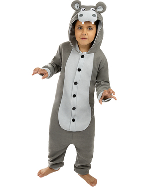 Onesie Flodhest Kostyme til Barn