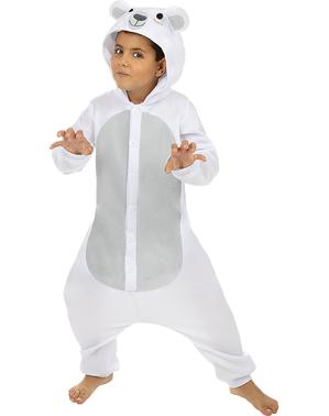 Disfraz de oso polar onesie para niños
