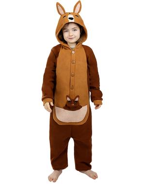 Onesie kangaroe kostuum voor kinderen