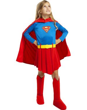 Costum de supergirl pentru fete