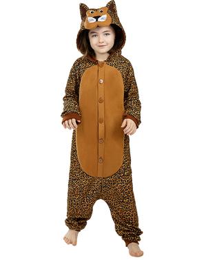 Kigurumi Leopard Maskeraddräkt för barn