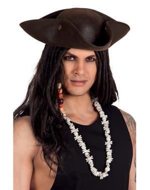 Collar de calaveras piratas para adulto