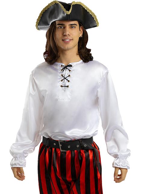 Camisa de pirata blanca