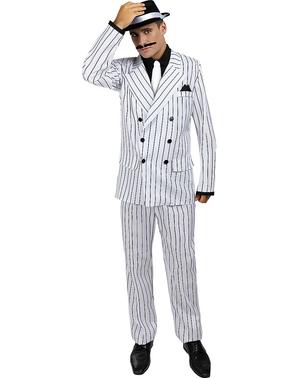 תחפושת חליפה של פעם לגברים - בצבע לבן