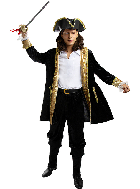 Deluxe Pirate Costume for Men Plus Size - Colonial Collection