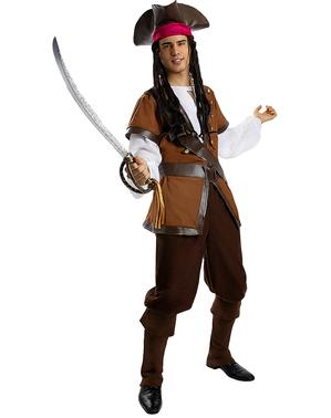 Pirat Kostume til Mænd i Plusstørrelse - Caribisk Samling