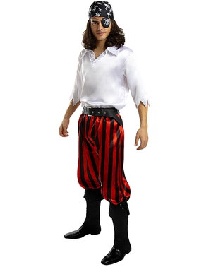 Pirat Kostyme til Menn i Plusstørrelse - Buccaneer Kolleksjon