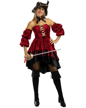 Fato de pirata corsária elegante para mulher - Tamanho Grande