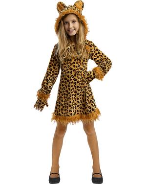 Fato de Leopardo para menina