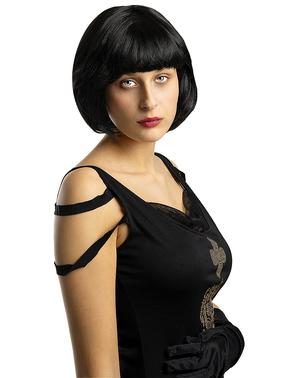 Černá paruka Flapper