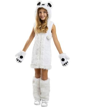 Детски костюм на бяла мечка за момиче