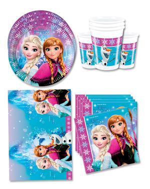 Decorațiune Frozen pentru ziua de naștere 16 persoane - Aurore boreale