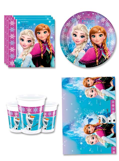 Decoración cumpleaños Frozen 8 personas - Northern Lights