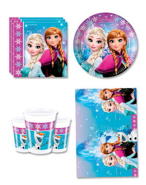 Decorațiune Frozen pentru ziua de naștere 8 persoane - Aurore boreale