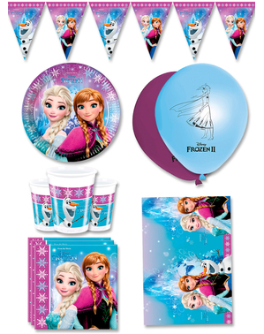 Premium Frozen Birthday Decorations for 8 People - Northern Lights