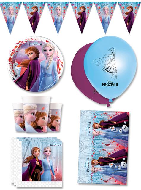 Decoración cumpleaños premium Frozen 8 personas