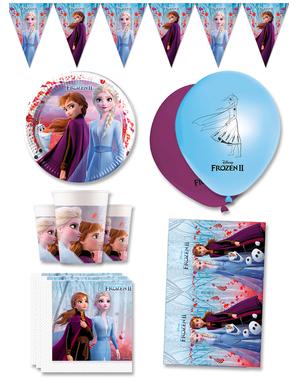 Décoration anniversaire premium La reine des neiges 8 personnes