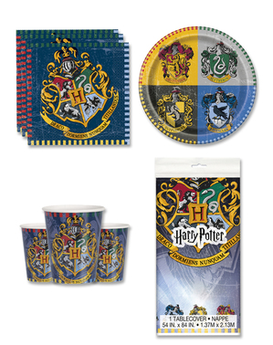 Kit decoration table anniversaire Harry Potter Maisons 8 personnes